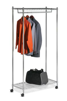 Shop Honey Can Do Urban Garment Rack, Chrome at Lowe's Canada. Find our selection of garment racks at the lowest price guaranteed with price match. Coat Rack With Storage, Closet Storage, Storage Room, Extra Storage, Rolling Rack, Steel Shelving, Hanging Bar, Garment Racks, Rack Design