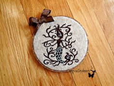 Felt wall hanging machine embroidery Fairytale by longvalleybears