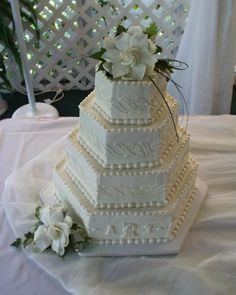 Image result for hexagon wedding cake