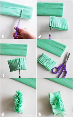 How to make fringed crepe paper streamers - SNAP!