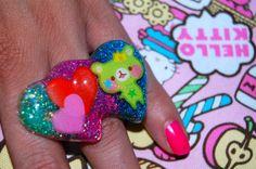 cute kawaii bear ring by chippednailpolish on Etsy, $5.00