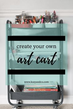 How to create your own art storage for kids.