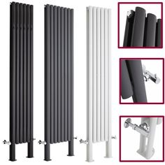 over 7000 btu Double Panel Vertical Designer Central Heating Tall Column Radiators With Feet