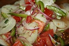 Fire and Ice Cucumber Salad. This is really good. A little different than the old cucumber/onion salad.