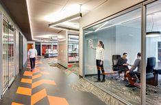 Colorful office flooring www.CorporateCare.com