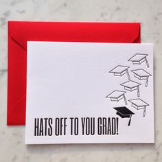 Hats Off to You Grad- Graduation Card