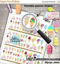 60%OFF - Ice Cream, Printable Planner Stickers, Food Sticker, Kawaii Sticker, Erin Condren, Functional Stickers, Planner Accessories, Desser