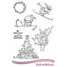 Katzelkraft Rubber Stamp Noël Keep calm