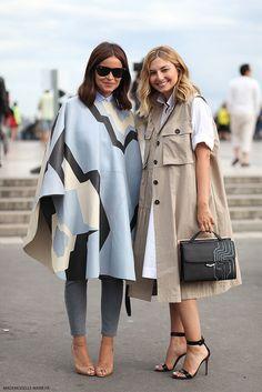 double trouble! Mira + Naseebs looking equally fab in Paris. #MiroslavaDuma #NasibaAdilova