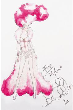 John Galliano - Costume de Scène - Kylie Minogue 'Showgirl' - The Homecoming Tour - 2006 - Croquis