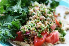 Hummus & Tabouli Wrap of Deliciousness @La Farme / Anne banks food
