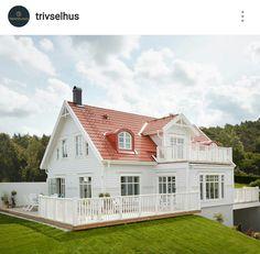 My Norwegian Home ( Dream Home 2017, Painted Brick Exteriors, Norwegian House, Home Focus, Swedish Cottage, New England Homes, House Paint Exterior, Villa, Scandinavian Home