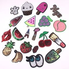 20Pcs Mixed Sequins Patches Embroidered Applique Sew On & Iron On Stickers Kids Clothes Patches Cartoon Fashion Badges-in Patches from Home & Garden on Aliexpress.com   Alibaba Group