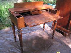 Folding Top Desk - Home Furniture Design Home Furniture, Furniture Design, Folding Desk, Secretary Desks, Diy Desk, Furniture Restoration, Drafting Desk, Frame, Home Decor