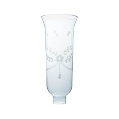 GLASS HURRICANE SHADE CUT FLORAL PATTERN 10 Hurricane Glass, Carafe, Glass Shades, Clear Glass, Floral, Pattern, Flowers, Patterns, Model