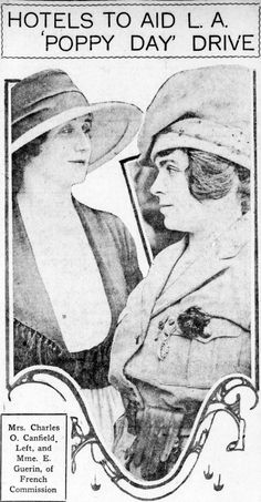 Madame E. Guérin and Mrs. Charles O. Canfield. The Los Angeles Herald, 26 August 1920.
