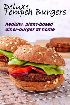 Make deluxe tempeh burgers and deliver your favorite diner meal right home. This one comes with a healthy, plant-based makeover that's take your dining experience to new heights of flavorful, guilt-free satisfaction.