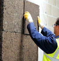 Cork can be used as a facade as well - on the exterior of the building or for design in the interior