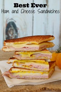 Best Ever Ham and Cheese Sandwiches!   It's a mix between a grilled and cold sandwich! I made it yesterday and everyone LOVED it! #ad