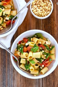 Roasted Tomato and Mozzarella Rigatoni Pasta