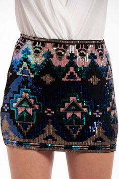 sequin mini skirt - maybe a slightly longer sequin skirt?