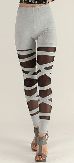 x-string leggings interesting pattern and design sexy mesh lace leggings for women tights lace(BARI FASHION). $29.00, via Etsy.