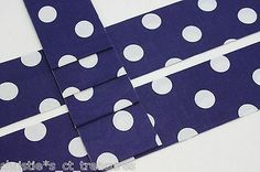"""10 Strips 2.5"""" BLUE DOTS Quilting Fabric QUILT Jelly Roll Quilter"""