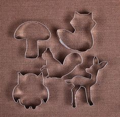 Woodland Animals Cookie Cutter Fox Cookie by thebakersconfections