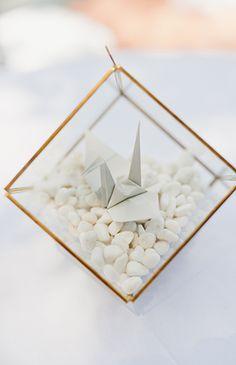 1000 Paper Cranes Wedding at Rancho Las Lomas - Origami 5 Wedding Centerpieces, Wedding Favors, Wedding Decorations, Wedding Rings, Wedding Blog, Our Wedding, Forest Wedding, Wedding Ideas, Wedding Reception
