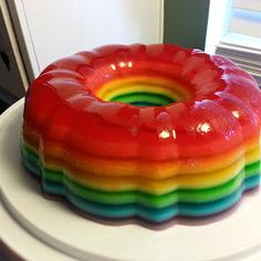 rainbow jello shot cake. Nothing goes with gay pride like being black out drunk.