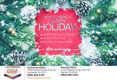 May the season bring you much happiness. Dermatology Associates of Northern Virginia, Inc. #HappyHolidays