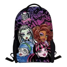 2017 fashion monster high bag children school bags for girls cartoon minions bag backpack kids bag boys bagpack mochila escolar