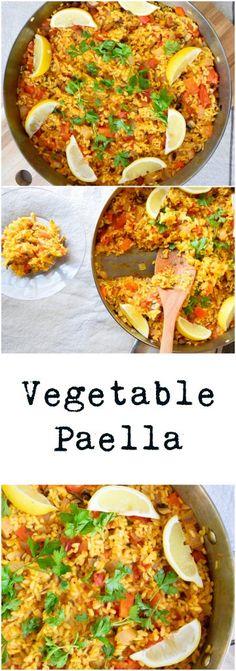 Vegetable Paella | Earth Powered Family