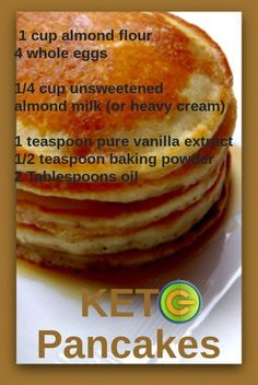 No Carb Pancakes carb free pancakes QUEST Weight Loss Plans: Keto No Carb Low Carb Gluten-free Weightloss Desserts Snacks Smoothies Breakfast Dinner Düşük karbonhidrat yemekleri Ketogenic Recipes, Low Carb Recipes, Diet Recipes, Recipies, Carb Free Meals, Easy Keto Recipes, Carb Free Diet, Brunch Recipes, Keto Meals Easy
