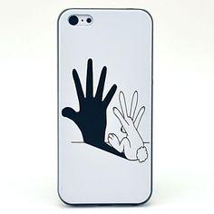 Hard Case Modelo blanco y negro a mano para el iPhone 5C – USD $ 2.99