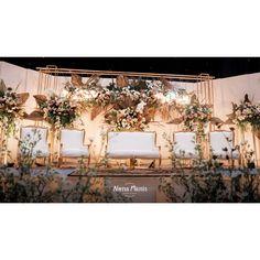 Laras & Rijal Wedding Decoration by Nona Manis Creative Planner - 003 Wedding Backdrop Design, Wedding Stage Design, Wedding Reception Backdrop, Indoor Wedding Decorations, Wedding Stage Decorations, Backdrop Decorations, Flower Wall Wedding, Master Bedroom, Bedroom Decor
