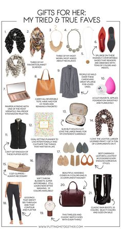Gifts for Her: My Tried and True Gift Ideas for Women 2018 Today I'm sharing a roundup of gift ideas for women made mostly of tried and true favorite items that I own! These items should look super f Top Gifts For Women, Christmas Gifts For Women, Gifts For Him, Gift Ideas For Women, Best Gift For Women, Gifts For Older Women, Holiday Gifts, Simple Gifts, Cool Gifts