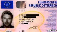 Austrian Niko Alm successfully applied for a religious exemption in order to appear on his driver's license photo wearing a pasta strainer, a traditional Driving Licence Photo, License Photo, Driver's License, Drivers License Pictures, Austria, International Passport, Driver License Online, Flying Spaghetti Monster, Passport Card