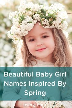 Looking for a baby name for your baby girl? The seasons are full of inspiration - not least of all Spring time. April, Mae, Freya and many more baby name suggestions are waiting for you! Celtic Baby Names, L Baby Names, Vintage Baby Names, Irish Baby Names, Unique Baby Names, Beautiful Baby Girl Names, Beautiful Babies, Nordic Goddesses, Feminine Names