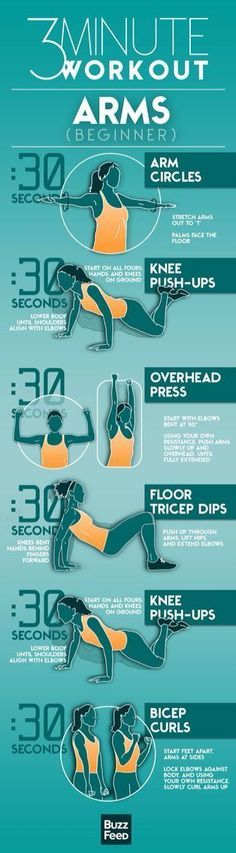 3 minute bodyweight workout to do at home to help strengthen your arms and upper body. 30 second intervals for each of the exercises.