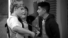Nialls prob like I'm not even gonna look at Louis... Just concentrate on the music... Then there's Zayn... LLN GIF