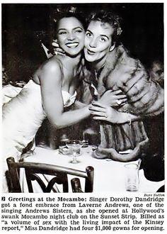 Dorothy Dandridge and Laverne Andrews (of the Andrews Sisters) - Jet Magazine, September 24, 1953