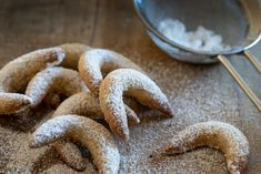 by George Gastl, Chef, The Cache at Ginger and Baker What's my favorite holiday recipe? Moon Cookies, German Baking, Vanilla Sugar, Almond Recipes, Croissant, Favorite Holiday, Food Inspiration, Holiday Recipes, Cake Recipes