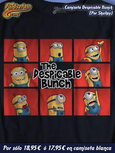 """""""Despicable bunch"""" Buenos días y #FelizJueves! Hoy se han reunido varios #Minions en un homenaje a #TheBradyBunch. Uno de ellos se ha quedado con la #banana, aunque los otros se mueren por conseguirla... #Camisetas #Divertidas #Fanisetas #Gru #GruMiVillanoFavorito #DespicableMe #Cine http://www.fanisetas.com/camiseta-despicable-bunch-p-6106.html"""