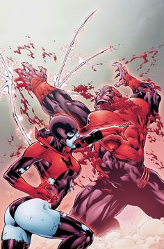 Bleez & Atrocitus in Red Lanterns # 5 - Cover Art cover by Ed Benes and Rob Hunter.