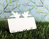 Wedding Place Cards Doves Set of 100