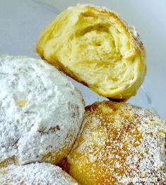 L'alveolatura della brioche di pasta madre. Croissants, Croissant Recipe, Ricotta, Muffin, Food And Drink, Pizza, Banana, Cheese, Cooking