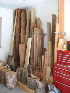 Vertical lumber storage google search woodworking for Vertical lumber storage rack