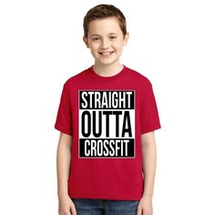 Straight Outta Crossfit Youth T-shirt