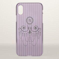 Swing Chandelier CHANGE COLOR Monogram - iPhone X Case - retro gifts style cyo diy special idea